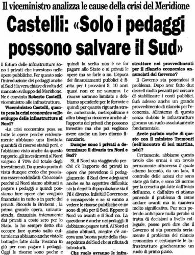 la padania 21 settembre intervista Castelli1.jpg