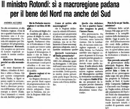 la padania 21 settembre intervista Rotondi1.jpg