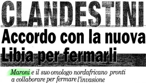 la padania 22 ottobre 2011 Clandestini, accordo con la nuova Li1.jpg