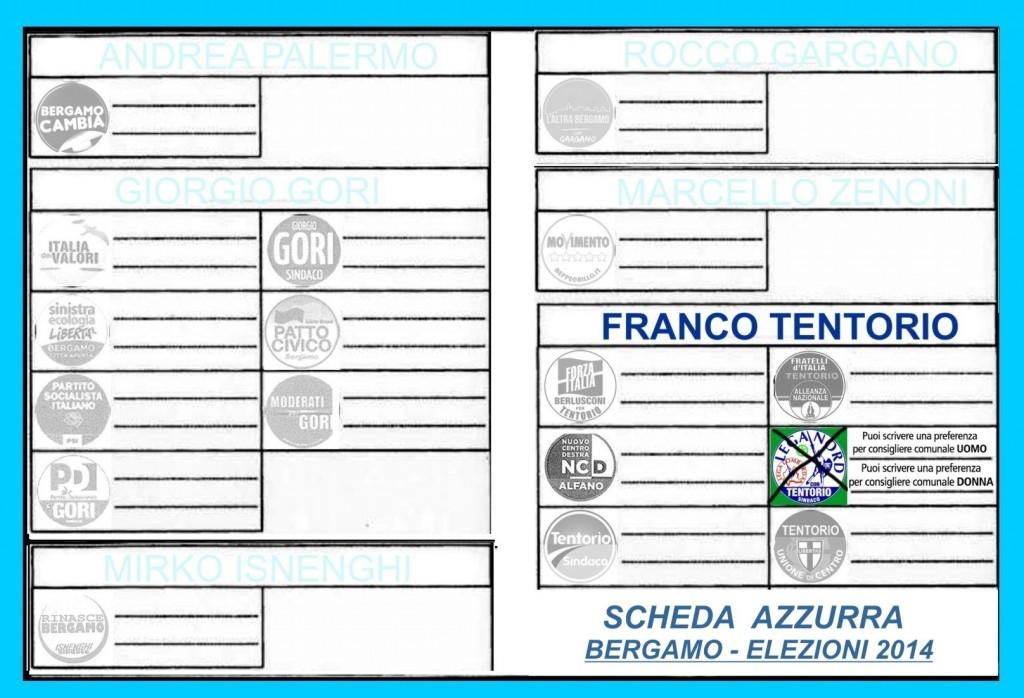 scheda elettorale su azzurro 3B